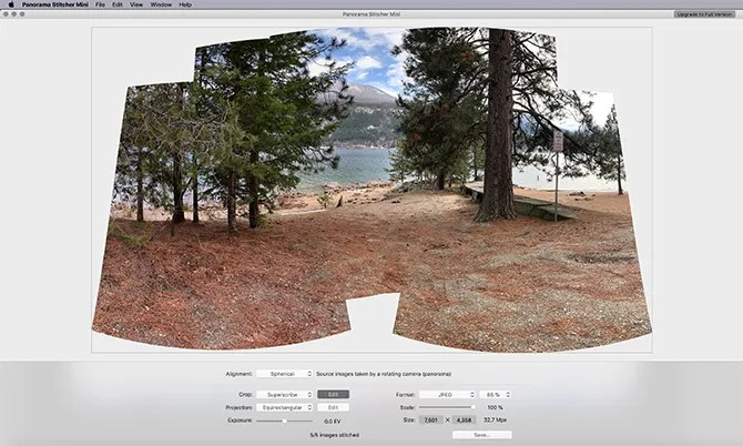 Panorama Mini Stitcher Make a Panorama