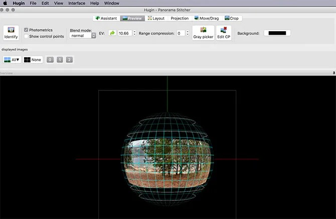 Hugin Stitch Фотографии вместе Панорама