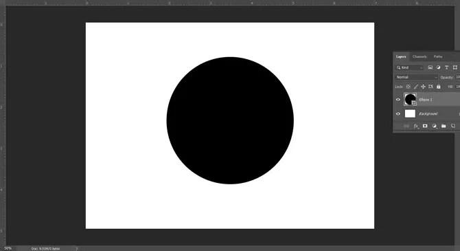 Dibujando la forma del círculo en Adobe Photoshop