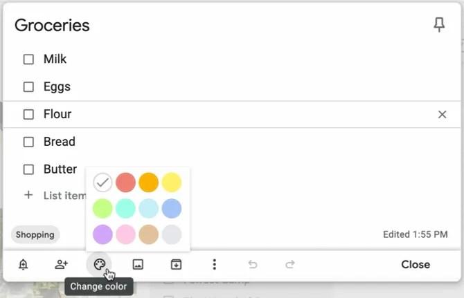 Google Keep Color Code