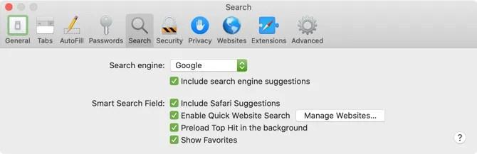 Safari Set По умолчанию поисковая система