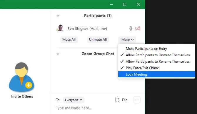 Zoom Управление участниками