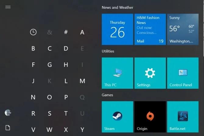 Очистить контакты меню «Пуск» Windows