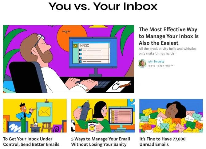 В серии «Вы против своего почтового ящика» рассказывается о лучших способах организации вашей электронной почты