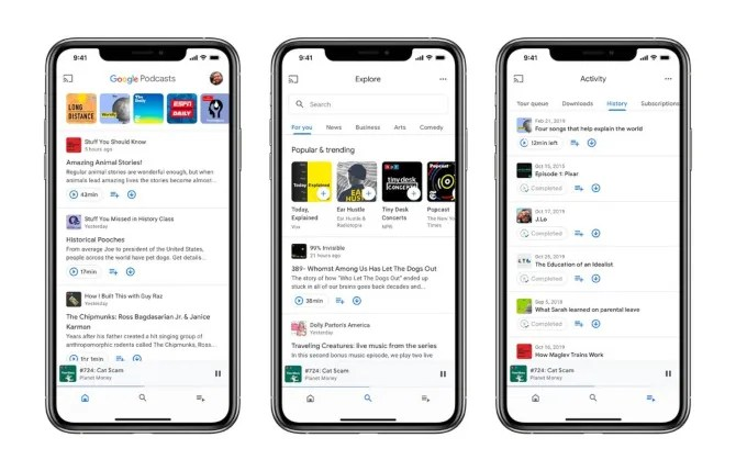 new Google Podcasts app