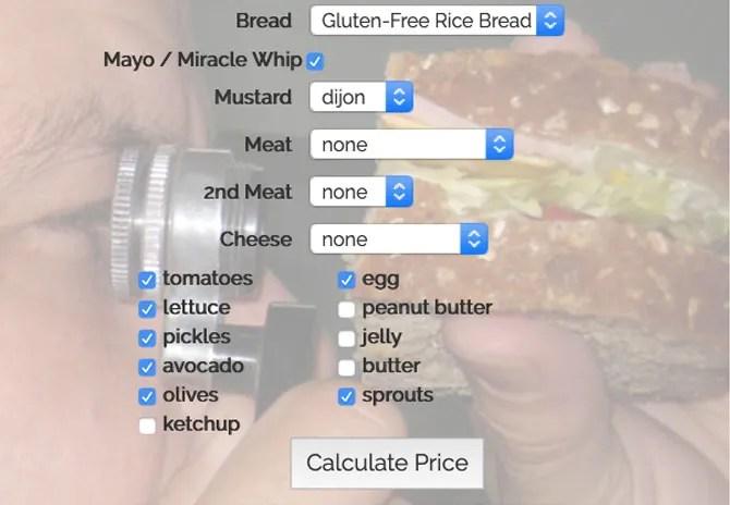 calculadora sandwich