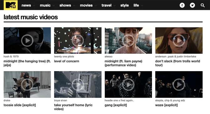 MTV UK музыкальные клипы