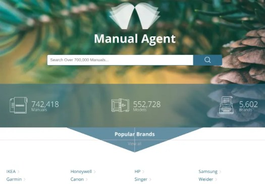 Find lost manuals of appliances and gadgets at ManualsLib and Manual Agent