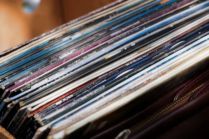 коллекция виниловых пластинок