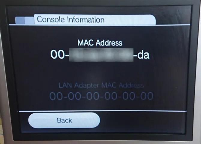 Найдите MAC-адрес вашего Wii для установки homebrew