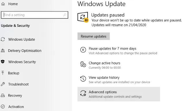 تقييد Windows Update لتحسين أداء اللعبة