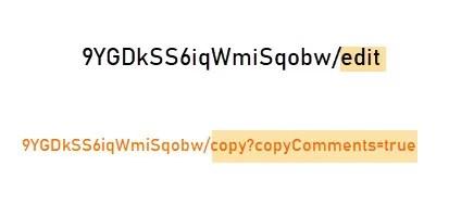 Пример Google Dive Sharing URL
