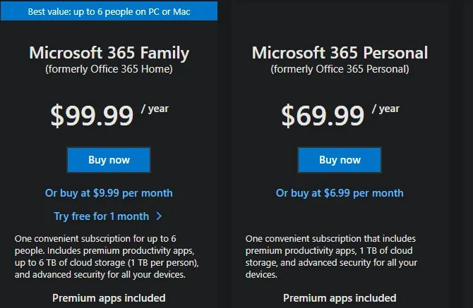 طبقات Microsoft 365