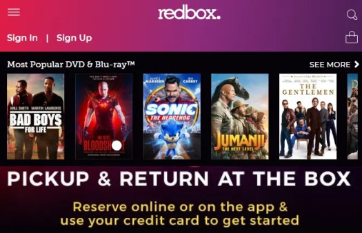 Redbox Online DVD Ordering