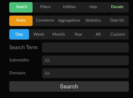 The PushSearch website