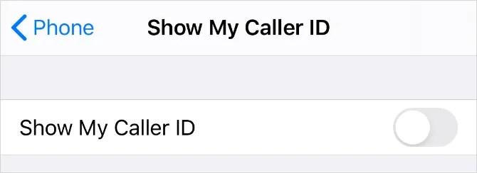 Показывать опцию My Caller ID в настройках iPhone
