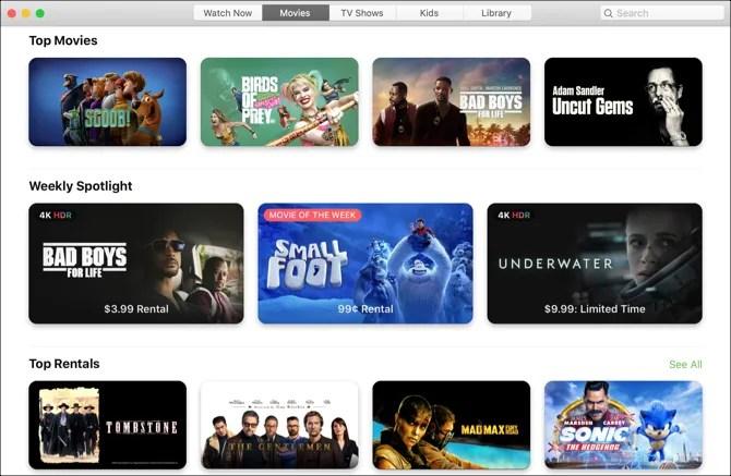 ТВ-приложение Mac-Movies View