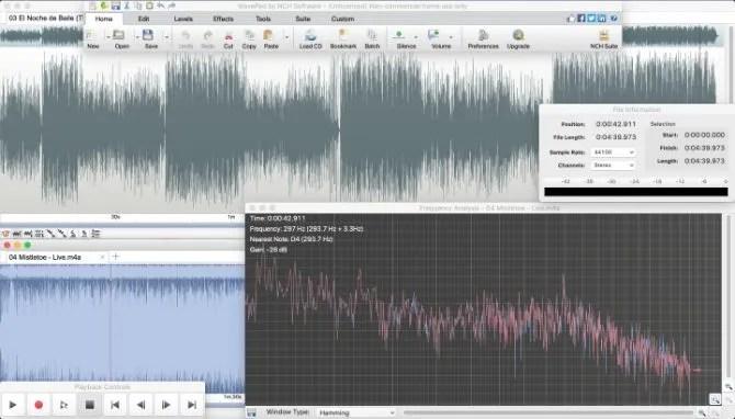 WavePad аудио редактор
