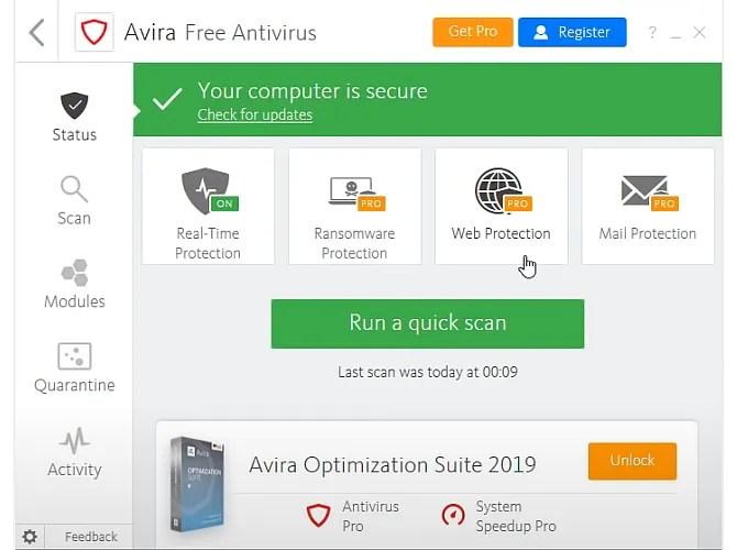 avira antivirus free 2020 internet security