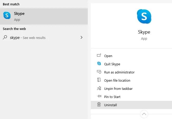 Удалить скайп