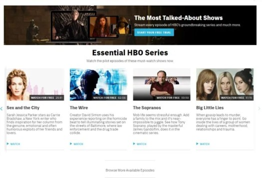 Watch Free Episodes HBO Website