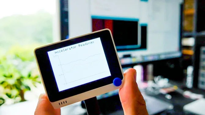 Wi-Fi терминал - показания акселерометра