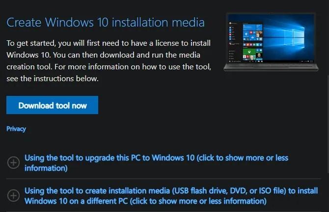Создать Windows 10 Install Media
