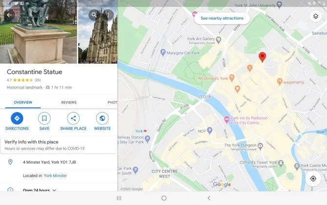 Используйте приложение карт для проверки вашего сенсорного экрана