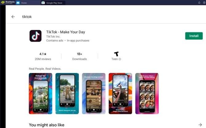 Bluestacks Google Play Магазин TikTok