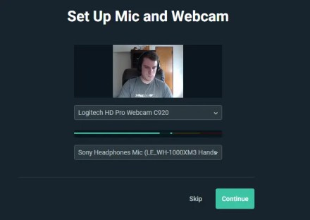 Streamlabs Mic and Webcam