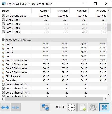 монитор температуры hwinfo 64