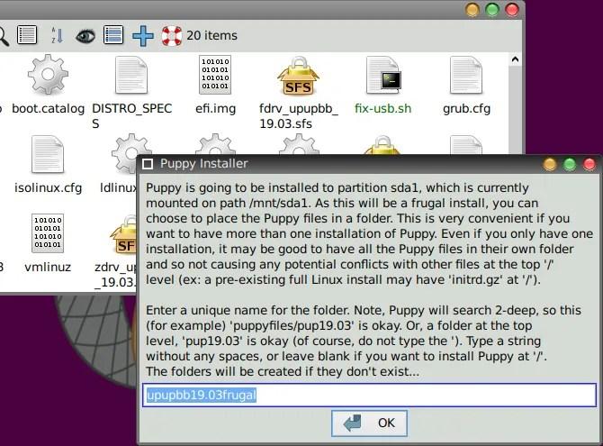 Установите Puppy Linux
