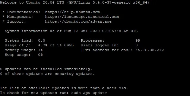 Удаленный доступ к Ubuntu Server