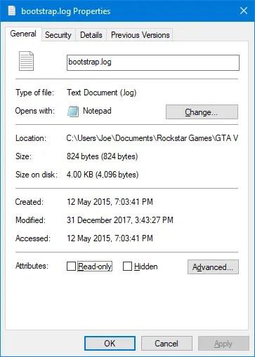 свойства файла windows 10