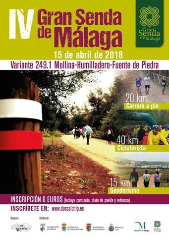 Cartel IV carrera variante GR 249 1 Mollina , Humilladero, Fuente de Piedra