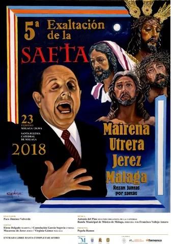 Cartel Málaga Exaltación de la Saeta