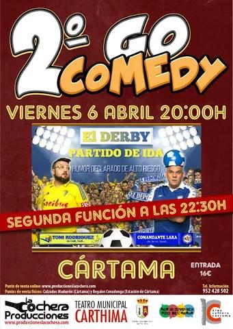 Cartel II Go Comedy con dos funciones 060218
