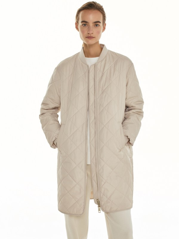 LONG QUILTED JACKET Massimo Dutti