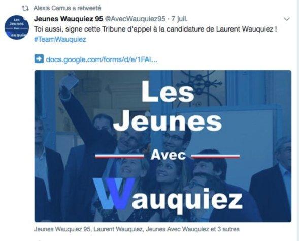 Compte Twitter d'Alexis Camus.