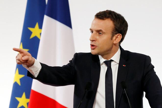 Emmanuel Macron prétend être offensif sur l'intelligence artificielle. © Reuters