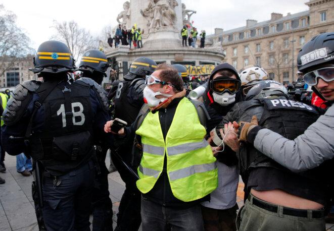 Manifestation des gilets jaunes- 2 février 2019 - Paris © Reuters