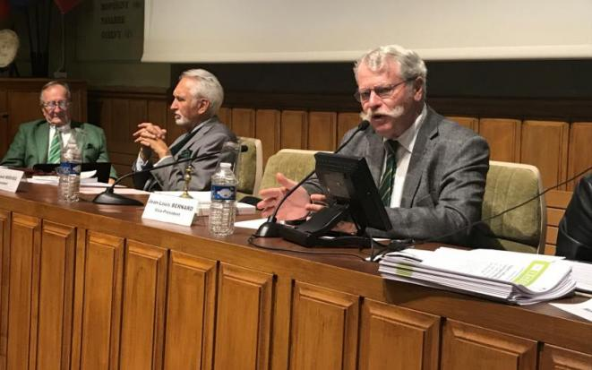 Le président de l'Académie de l'agriculture pour 2019, Jean-Louis Bernard, ancien cadre d'une firme suisse fabriquant des pesticides. © DR