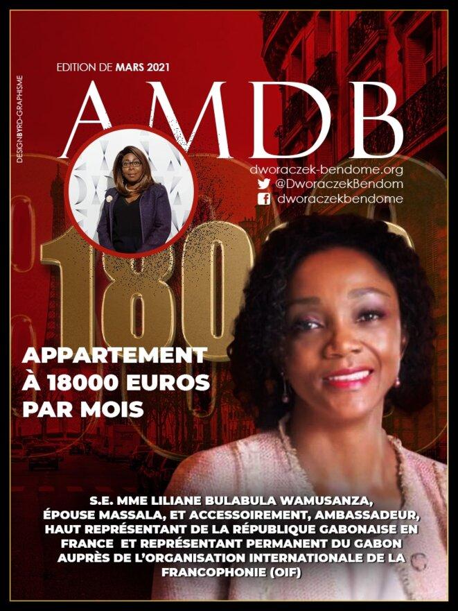 25 mars 201- Liliane Massala, un appartement à 18000 euros par mois, pour S.E. Mme Ambassadrice