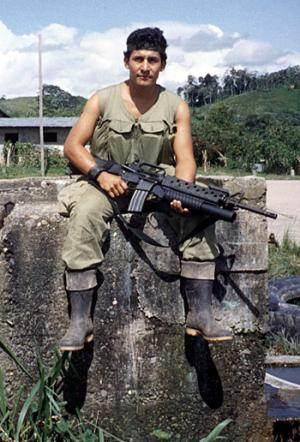 Ollanta Humala, en 1992, cuando dirigía la base antisubversiva de Madre Mía.