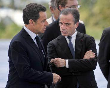 Henri Proglio, PDG d'EDF, et Nicolas Sarkozy en 2010 (©Reuters)
