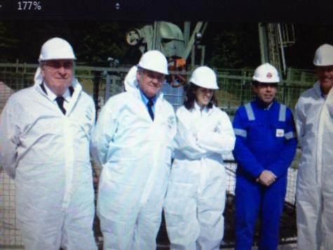 Les rapporteurs visitent le site pétrolier de Champotran (Seine-et-Marne), mai 2013 (DR).