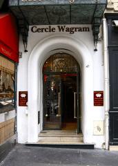L'entrée du cercle Wagram à Paris