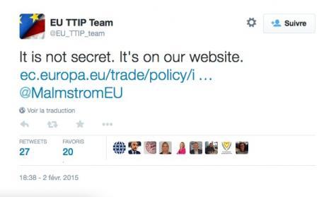 «Ce n'est pas secret, c'est sur notre site»
