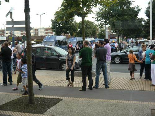 Au Colvert, sur la place de la mairie annexe, après le départ de Manuel Valls, le 14 août.