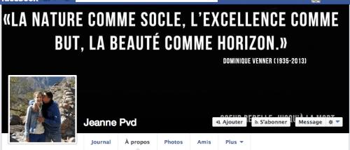 Bandeau d'accueil du compte Facebook de Jeanne Pavard, modifié depuis notre appel.